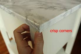 contact paper diy nightstand upgrade with marble contact paper