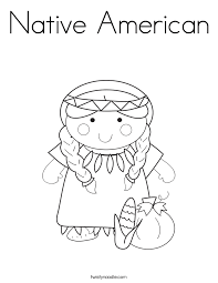native american coloring page twisty noodle