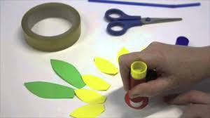 how to make paper flowers art and craft activity for preschool
