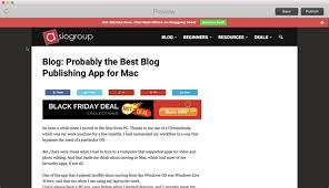 best site to look for black friday deals blogo review probably the best blog publishing app for mac