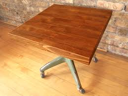 rolling butcher block table modified llc