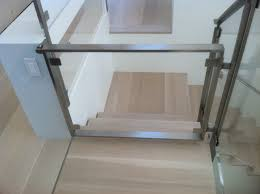 Child Gates For Stairs With Banisters Modern Glass Child Gate Modern Staircase San Francisco By