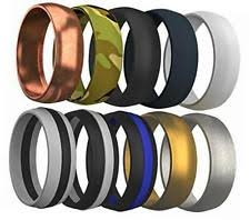 mens silicone wedding band 10 pcs silicone wedding ring rubber band comfortable