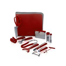 wolfgang puck bistro elite 12 piece prep and garnish set with case