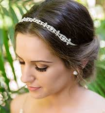 wedding headband deco bridal and wedding headband silver