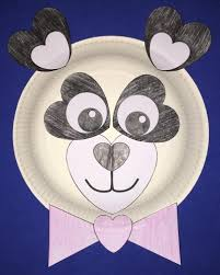 heart monkey paper plate craft