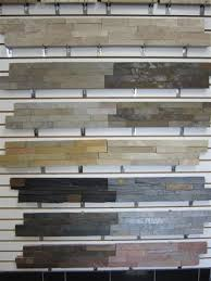 Ledger PanelsStacked Stone MidWest Tile - Layered stone backsplash