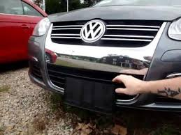 Front Vanity Plates Manual Hide The Plate On A New Vw Jetta Youtube