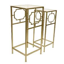Metal Drum Accent Table Metal Drum Accent Tables Set Of 3 Kirklands