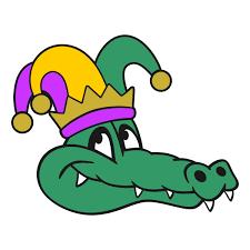 mardi gras alligator mardi gras gators svg cuttable designs