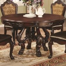 Coaster Dining Room Sets Coaster Benbrook 6pc Round Pedestal Dining Table Set In Dark