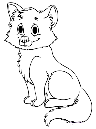 foxes coloring pages in baby fox coloring pages ffftp net