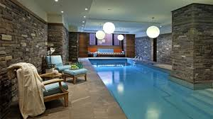 wonderful brown grey wood glass unique design pool indoor wall