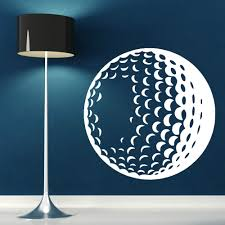 sports wall murals promotion shop for promotional sports wall 3d views golf ball vinyl art wall mural home living room decoration wall sticker sports theme series wall mural y 841