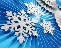 Blue Snowflakes Decorations Snowflake Decoration Etsy