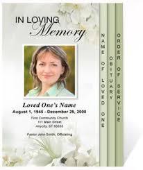 unique funeral programs flowers of devotion funeral program template 4 page graduated