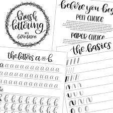Aa Step 10 Worksheet Brush Lettering Worksheets Learn Brush Lettering Lowercase
