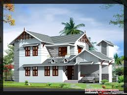 1839 square feet 4 bedroom double floor sloping roof home design