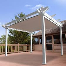 Diy Backyard Shade Sun Shade Canopy Design With White Patio And Outdoor Area And Wood