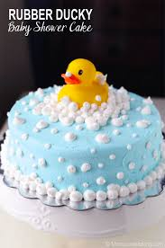 rubber ducky baby shower cake baking