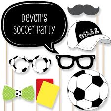 20 goaaal soccer photo booth props soccer photobooth kit