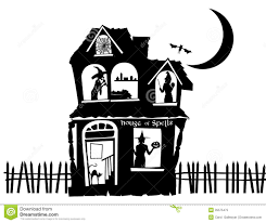 pictures of cartoon haunted houses haunted house fence clipart clipartxtras