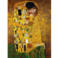 original famous paint the kiss man and beauty wall painting for