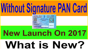 without signature new pan card review
