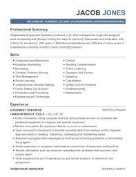 Resume For Warehouse Associate Schlumberger Oil U0026 Well Services Equipment Operator Resume Sample