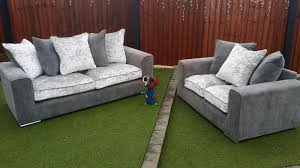 Grey Silver Sofa Verve 3 U0026 2 Seater Sofas Grey Silver In Cannock Expired Friday Ad