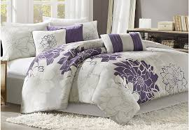 King Linen Comforter Lola Gray Purple 7 Pc King Comforter Set King Linens Gray
