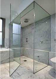 Bathroom Shower Door by Contemporary Bathroom With Rainfall Shower Head And Glass Shower