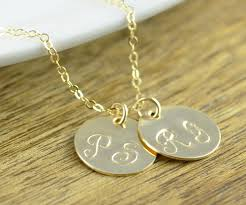 Personalized Gold Name Necklaces Gold Name Necklace Hand Stamped Necklace Gold Name Necklace
