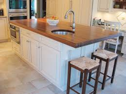 kitchen lovely kitchen island with seating butcher block sink