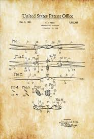 aeronautical propeller patent aviation blueprint vintage