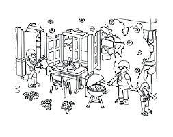 Playmobil famille jardin  Coloriage Playmobil  Coloriages pour enfants