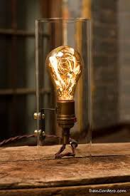 Gas Light Bulbs Reminiscent Of A Gas Light In A Quiet Room This