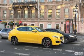 yellow maserati maserati levante diesel 15 december 2016 autogespot