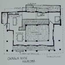 Traditional Japanese House Floor Plans A Traditional Okinawan House Japanese House Traditional House