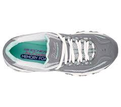 women u0027s skechers d u0027lites life saver 11860 gray white 75 55