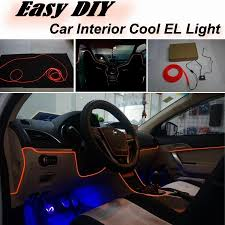 nissan teana interior car atmosphere light flexible neon light el wire interior light