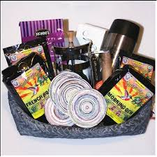 Coffee Gift Baskets Large Fair Trade Coffee Gift Basket With French Press Coffee Maker