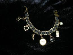 anne klein charm bracelet watches images Anne klein charm bracelet watch like new townconnection jpg