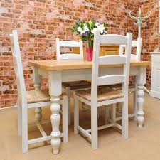 painted oak dining table and chairs brokeasshome com