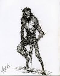 artstation werewolf fantasy creature design sketch constantine