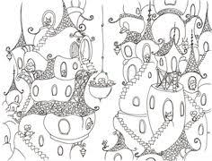 whimsical tree coloring pages u0026 basic patterns templates