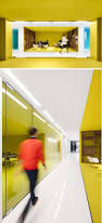 bold colors this office interior used color to create distinct spaces