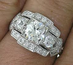 vintage 1900 to 1960 diamond rings collection on ebay