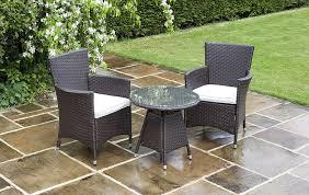 Garden Bistro Chair Cushions Savannah 2 Seat Chairs Rattan Garden Furniture Set Round Glass