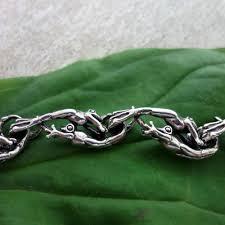 frog bracelet handmade silver 14k gold usa best realistic detailed